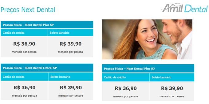 Preços-do-Plano-de-Amil-Dental-Next